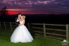 wedding pictures bride groom hyde barn sunset