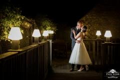 wedding pictures bride groom evening portrait