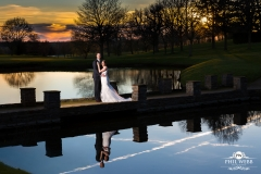 wedding pictures puckrup hall sunset