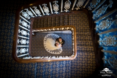 wedding pictures puckrup hall stairs