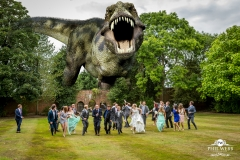 wedding pictures bride groom puckrup hall t rex