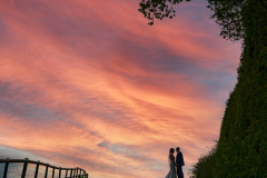 Sunset_Kingscote_Barn_Wedding_Photography_Phil_Webb-1