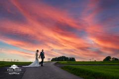 Sunset_Kingscote_Barn_Wedding_Photography_Phil_Webb-2