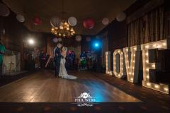 bride and groom dancing at Dumbleton Hall