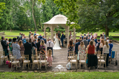 Outside wedding ceremony at Eastington Park