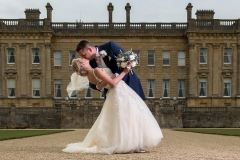 heythrop park wedding day bride groom