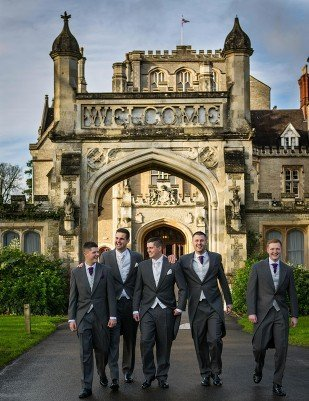 wedding pictures tortworth court groomsmen