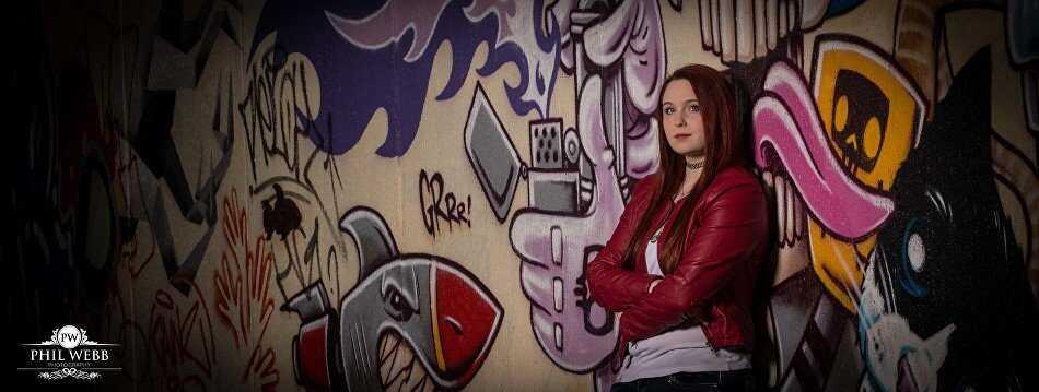 portrait grafitti wall cheltenham