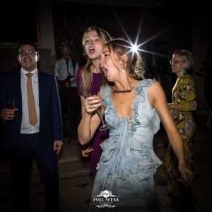 singing and dancing at Berkley Castle wedding
