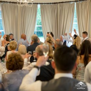 toasting the wedding speeches at Easting ton Park