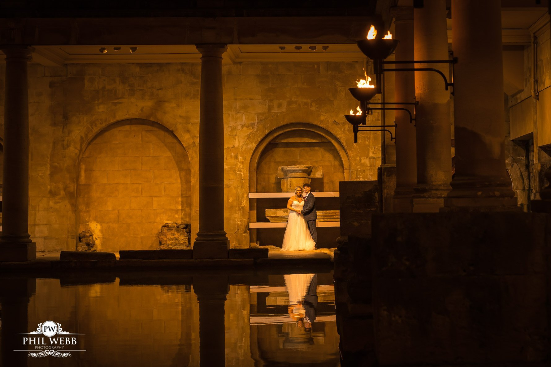 Nicki & Simon's Wedding - The Roman Baths, Bath