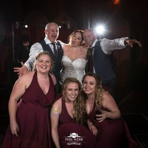 bridal party fun picture